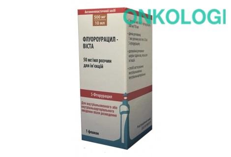 Флуороурацил-Виста р-р для ин. 50 мг/мл по 10 мл (500 мг)во  флаконах № 1